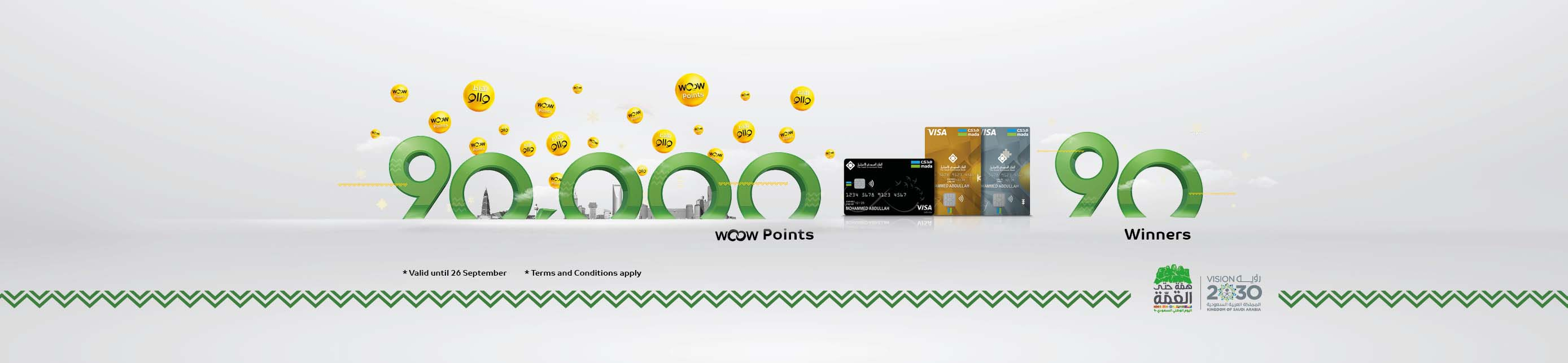 90,000 WOOW POINTS FOR 90 WINNERS